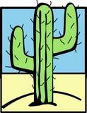 Cactus in de woestijn Stock Fotografie