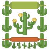 Cactus decorations Stock Image