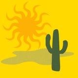 Cactus del deserto caldo illustrazione vettoriale