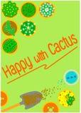 Cactus del fondo dei grafici Immagine Stock Libera da Diritti