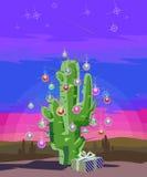 Cactus del nuovo anno illustrazione di stock