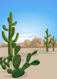 Cactus and Desert royalty free illustration