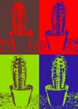 Cactus di Pop art Fotografia Stock Libera da Diritti