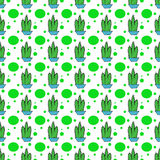 Cactus dots seamles repeat pattern. Cactus and green dots seamles repeat pattern print project design art vector illustration