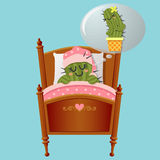 Cactus dreaming about lover Stock Images