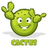 Cactus e testo sorridente rotondi nel vettore Immagine Stock