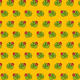 Cactus - emoji pattern 22. Pattern of a emoji cactus that can be used as a background, texture, prints or something else royalty free illustration