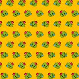 Cactus - emoji pattern 29. Pattern of a emoji cactus that can be used as a background, texture, prints or something else royalty free illustration