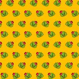 Cactus - emoji pattern 30. Pattern of a emoji cactus that can be used as a background, texture, prints or something else royalty free illustration