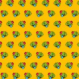 Cactus - emoji pattern 33. Pattern of a emoji cactus that can be used as a background, texture, prints or something else stock illustration