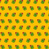 Cactus - emoji pattern 78 royalty free illustration