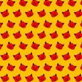 Cactus - emoji pattern 80 stock illustration