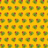 Cactus - emoji pattern 26. Pattern of a emoji cactus that can be used as a background, texture, prints or something else vector illustration