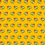 Cactus - emoji pattern 27. Pattern of a emoji cactus that can be used as a background, texture, prints or something else stock illustration