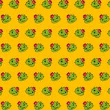 Cactus - emoji pattern 28. Pattern of a emoji cactus that can be used as a background, texture, prints or something else stock illustration