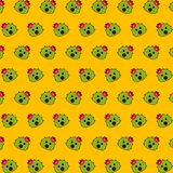 Cactus - emoji pattern 31. Pattern of a emoji cactus that can be used as a background, texture, prints or something else vector illustration