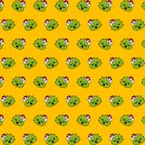 Cactus - emoji pattern 35. Pattern of a emoji cactus that can be used as a background, texture, prints or something else vector illustration