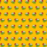 Cactus - emoji pattern 69. Pattern of a emoji cactus that can be used as a background, texture, prints or something else stock illustration