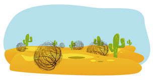 cactus en amarantwoestijn vector illustratie