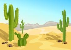 Cactus en el desierto Fondo natural