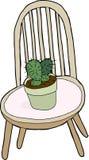 Cactus en silla stock de ilustración