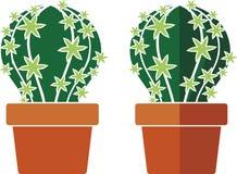 Cactus en un pote stock de ilustración