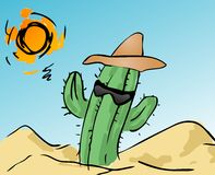 Cactus freddo Fotografia Stock
