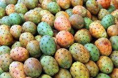 Cactus fruits on Mediterranean market Stock Photos