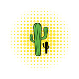 Cactus icon in comics style Royalty Free Stock Photo