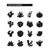 Cactus icons set. Stock Image