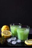 Cactus juice,  lemons and ice Stock Photo
