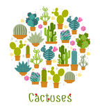Cactus label Royalty Free Stock Images