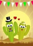 Cactus in liefde royalty-vrije illustratie