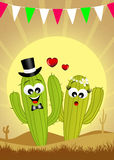 Cactus in love Royalty Free Stock Photo