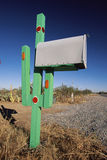 Cactus mailbox Royalty Free Stock Images