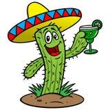Cactus met Margarita royalty-vrije illustratie