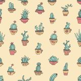 Cactus in Mexicaanse stijl stock illustratie