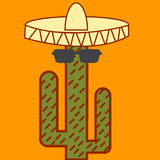 Cactus mexican icon Stock Images