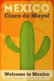 Cactus mexicano stock de ilustración