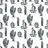 Cactus naadloze achtergrond stock illustratie