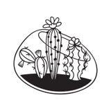 Cactus para los libros de colorear Ilustración del vector libre illustration