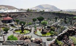 Cactus park on Lanzarote island Stock Photo