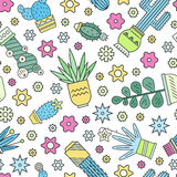 Cactus Pattern Royalty Free Stock Image