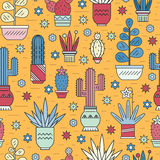 Cactus Pattern Royalty Free Stock Images