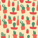 Cactus Pattern Royalty Free Stock Photography