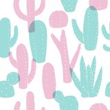Cactus pattern. Vector seamless background. Cactus pattern. Summer style. Vector seamless background. Ready for printing on textile and other seamless design vector illustration