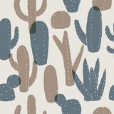Cactus pattern. Vector seamless background. Cactus pattern. Summer style. Vector seamless background. Ready for printing on textile and other seamless design stock illustration