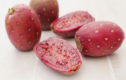 Cactus pears fruit cut Royalty Free Stock Images