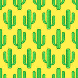 Cactus plant pattern. Seamless pattern of the cactus plants Royalty Free Stock Photo