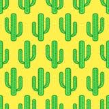 Cactus plant pattern Royalty Free Stock Photo